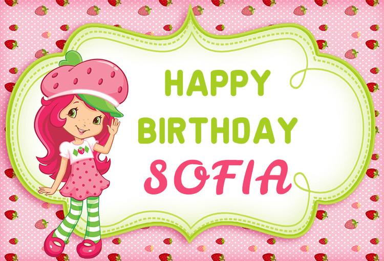 Strawberry Shortcake Girls Photography Backdrop Pink Theme Polka Dot Baby Shower 1st Birthday Party Backgrounds Vinyl